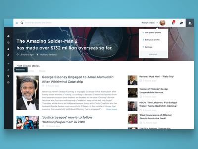 Movie news dashboard
