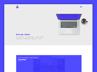 Personal website (coded) portfolio hero monospace personal mockup projects coded web