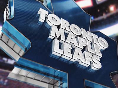 Leafs Logo hockey c4d cinema4d aftereffects design 3d