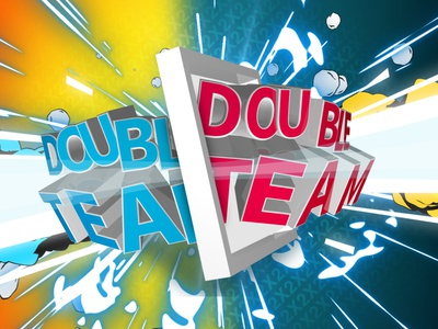Double Team  cinema4d aftereffects logo illustration explosion styleframe type typography