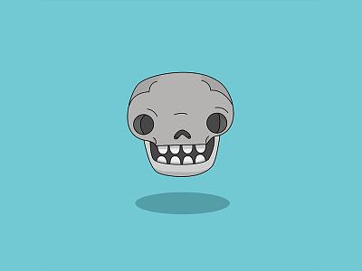 Ole Flat Skull illustration icon design character flat dead skull