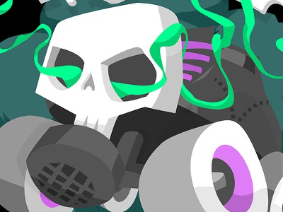 Toxic Derby illustration toxic roller derby derby skul