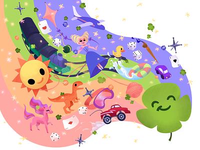 Clover Leaf Illustration design branding illustration