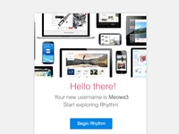 Rhythm Sign up email
