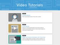 Video Tutorials UI