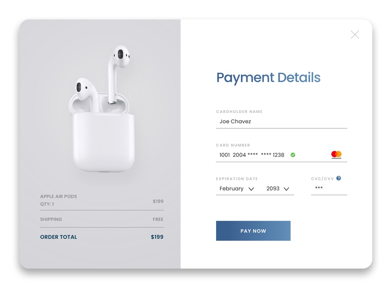 Credit Card Checkout airpods credit card checkout dailyui