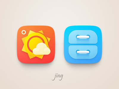 Jing theme icon weather file manager
