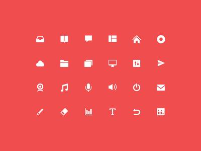 Glyph glyph icon cloud camera volume rubber pencil vote home record drawer