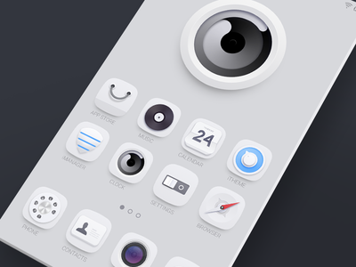 Inside the Screen theme icon gallery calendar store clock settings browser camera