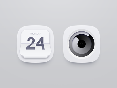 Time Goes By theme icon clock calendar