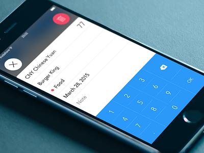 WeFinance cost finance ios iphone expense ui app add