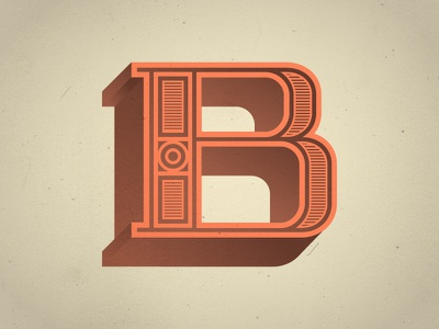 The Letter B typography illustration type custom type font letter lettering b typefight letter b