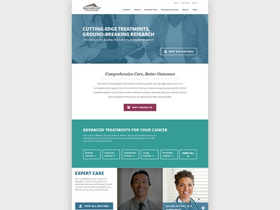 Rocky Mountain Cancer Centers Mockup webdesign mockup homepage cancer medical web website doctors ui ux