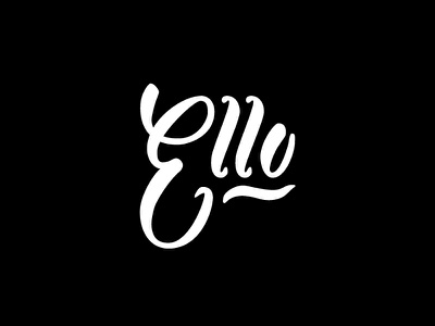 Ello  script brush typography lettering handdrawn type social media