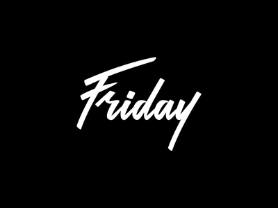 Friday Lettering calligraphy vectorized brush pen script typography lettering