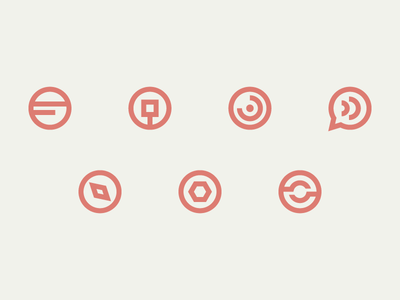 Editorial category symbols  glyphs symbols blog minimal icons