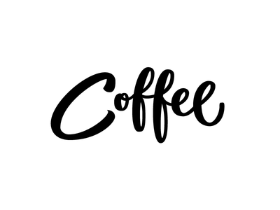 Coffee Lettering crayolagraphy calligraphy script lettering