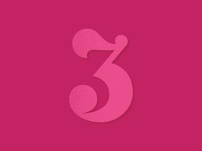 Three dribbble invites lettering numbers three dribbble invites invites