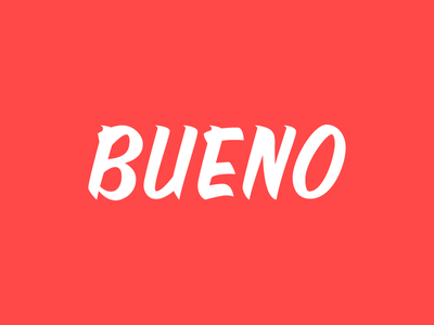 Beuno Lettering vectorized type typography single stroke sign calligraphy lettering