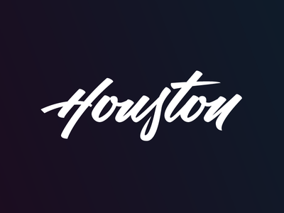 Houston Lettering calligraphy brush lettering typography script lettering