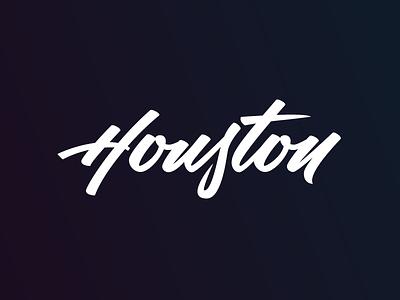 Houston Lettering calligraphy brush lettering typography script lettering