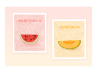 fruit watermelon cantaloupe