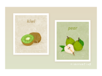 fruit kiwi pear