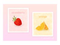 fruit strawberry orange