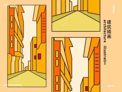 architecture illustration 100days study plan