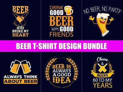 Beer T-Shirt Design Bundle - Hello Dribbble