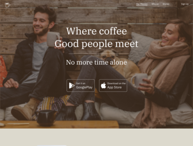 Coffee Time App Landing Page