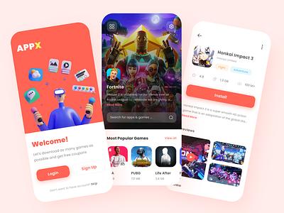 Game Store App application ui clean ui clean flat flat design game app store game store gamer game design daily ui mockup design mockup mobile ui mobile app design dailyui app