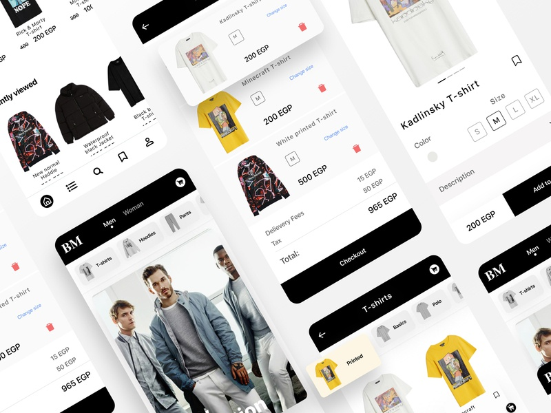 clothes shop mobile application uidesign user experience behance design graphicdesign inspiration daily 100 challenge mobile app design mobile ui daily design challenge