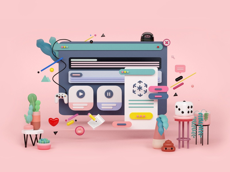 Website Landing Page digitalart uiux ui blender web app concept art illustration composing artist art direction animation 3d artist 3d art