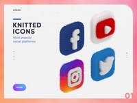 Knitted Icons  |  Social Platforms