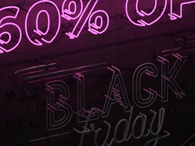 BLACK FRIDAY | for Restream.io restream black friday render 3d lettering typogaphy neon font neon design animation octane cinema4d c4d