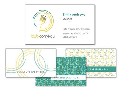 bub comedy business card designs
