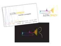 Trumpeter logo & business card