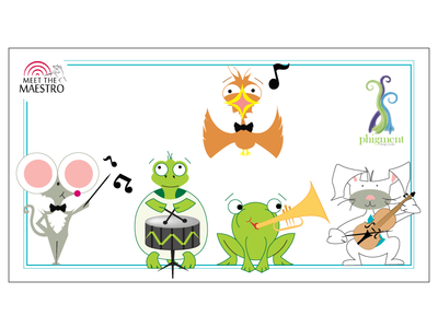 Meet the Maestro Animals meet the maestro pittsburgh symphony orchestra orchestra symphony illustration animals music