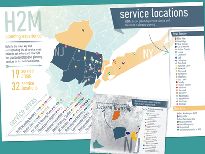Company Map Infographic(s) areas poster planning geographic locations services h2m map infographic
