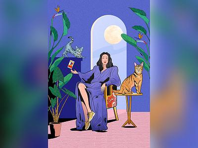 La sorcière apprivoisée womanart witch digitalart
