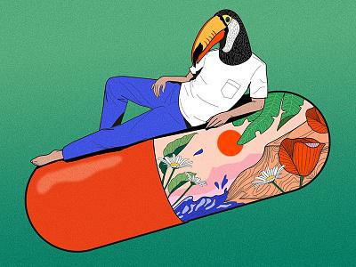 Demain sera superbe - Pochette digitalart toucans