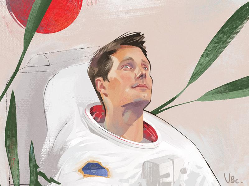 Thomas Pesquet space astronaut thomas pesquet photoshop art digital art digital 2d portrait art