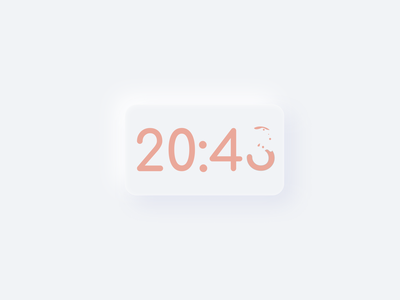 Swift UI Clock Exercice logo branding animation minimalist white minimal illustration ux design ui