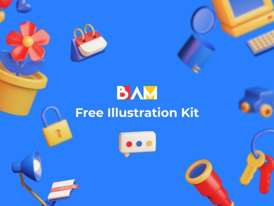 BAM Free 3D Illustration Kit design blender3dart blender3d blender 3dart illustraion 3d free