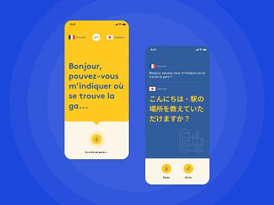 Translation App Concept mobile translation translation service translate icons colorful playful ui ux app