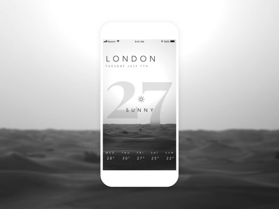 Black & White Weather App