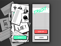 Trust - Brutalist Login