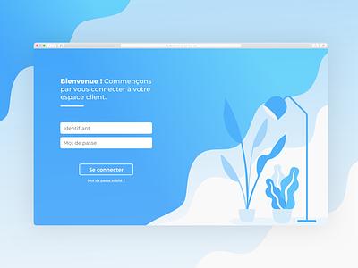 Login Screen website vector branding minimalist blue minimal illustration design ui