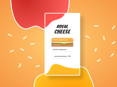 Lunch time exercice ! 🍔 white ux ui mobile minimal login kid illustration gradient concept design app concept color colorful figma burger app